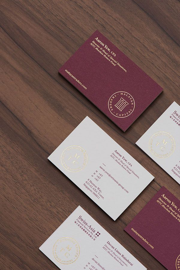 Malayan Traders Capital On Behance Business Cards Creative