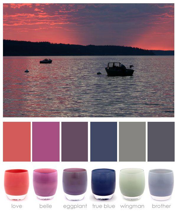 glassybaby | san juan sunset color inspiration