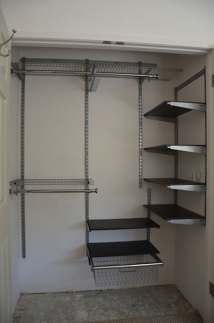 clever closet design with modifications to fit smaller spaces!! closet solutions!! #closet #organization