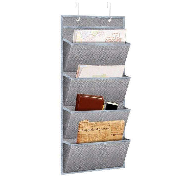 Hanging Wall Organizer Mail File Documents Folder Notebook Office Supply Door  | eBay
