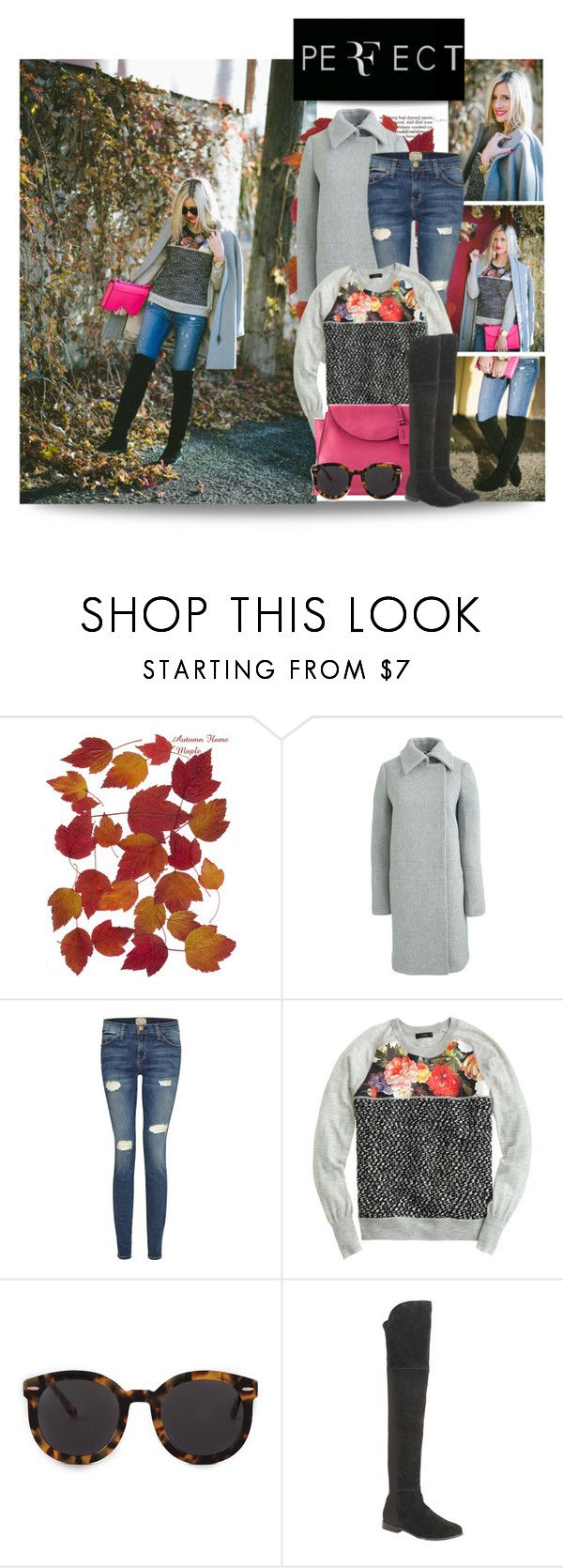 """""""casual style"""" by stacy-gustin ❤ liked on Polyvore featuring J.Crew, Current/Elliott, Kate Spade Saturday, Karen Walker, Chinese Laundry, BloggerStyle and littlemissfearless"""