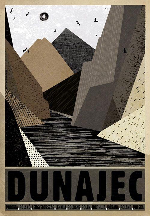 Dunajec, Polish Tourist Poster
