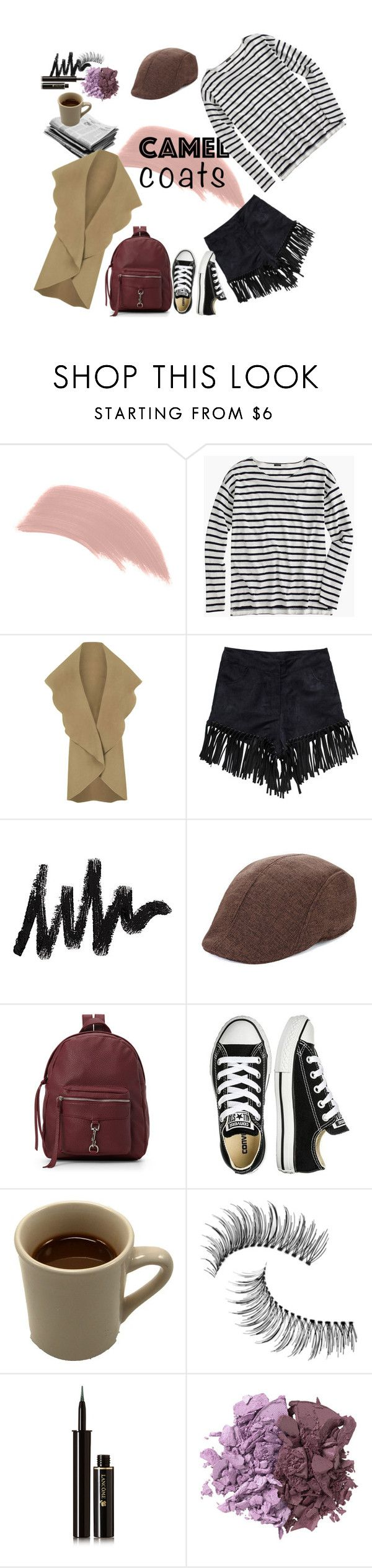 """Camel Coat Contest"" by nimas on Polyvore featuring Jane Iredale, J.Crew, WearAll, NLY Trend, IMoshion, Converse, Trish McEvoy, Lancôme and Osmosis Colour"