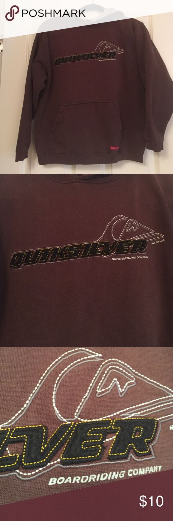 Boys Quicksilver Sweatshirt Size Medium Boys Quicksilver sweatshirt. Brown pullover. In excellent condition. I would say this is for an average built 10 year old. Comes from a non smoking home. Quiksilver Shirts & Tops Sweatshirts & Hoodies