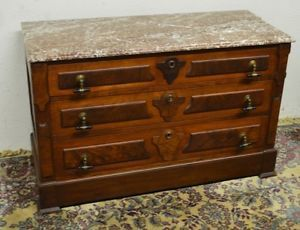 1800 S Antique Victorian Dresser Chest Of Drawers With