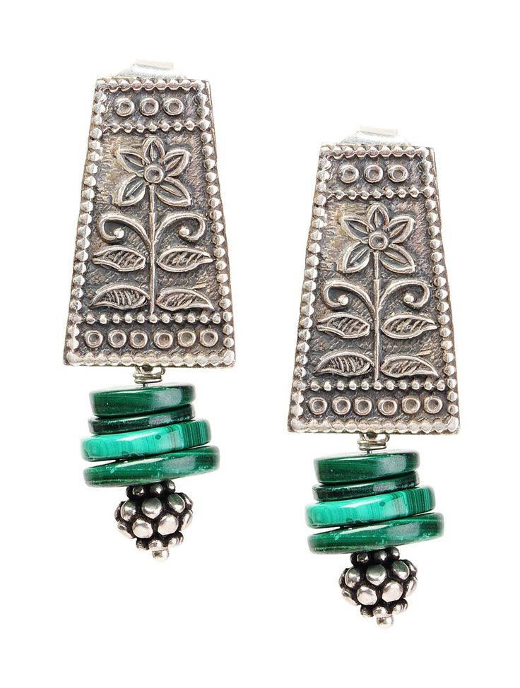 Buy Green Silver Malachite Sterling Earrings Jewelry Ethnic Indulgence Handcrafted Colorful and Necklaces Online at Jaypore.com