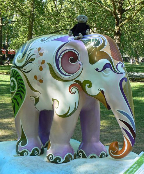 Mooch monkey at the London Elephant Parade - 025I Miss The Forest.