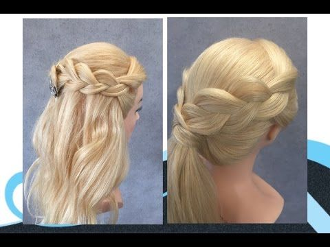 (145) Makkelijke kapsels met vlechten, easy braids hairstyles - YouTube