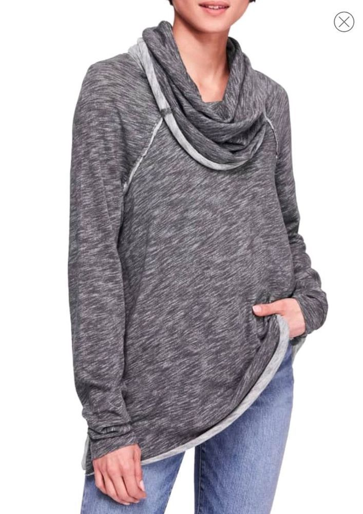 37c903f1c0 Free People FP Beach M/L Size Gray Cocoon Cowl Neck Pullover Sweater  #fashion #clothing #shoes #accessories #womensclothing #tops (ebay link)
