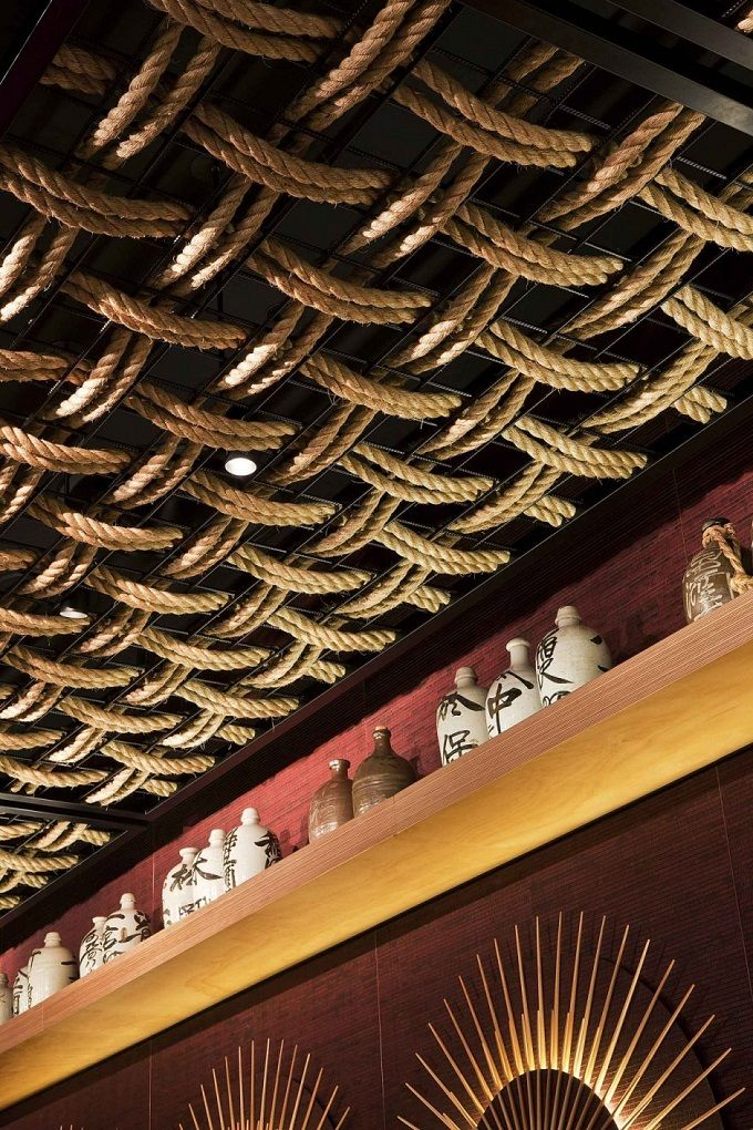 Ceiling design detail Modern Take on a Traditional Japanese Style Restaurant
