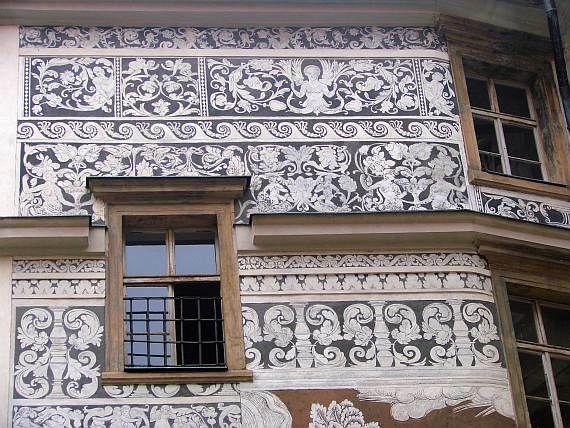 Sgrafito ze 16. století - Brandýs nad Labem