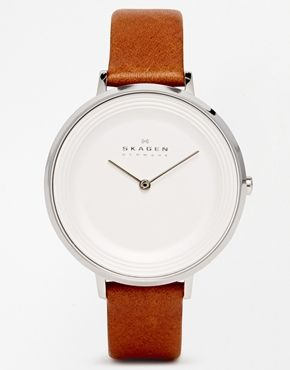 New leather straps for Skagen watch (And new face of scratches don't buff out) Enlarge Skagen Ditte Refined Brown WatchSKW22147