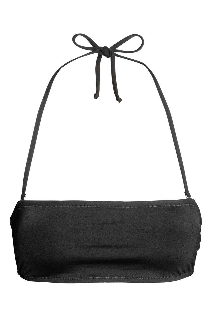 Bandeau bikini top - Black - Ladies | H&M GB