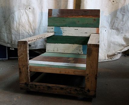 Greg Hatton Rescued Chair; Some pallet chairs are nicer than others