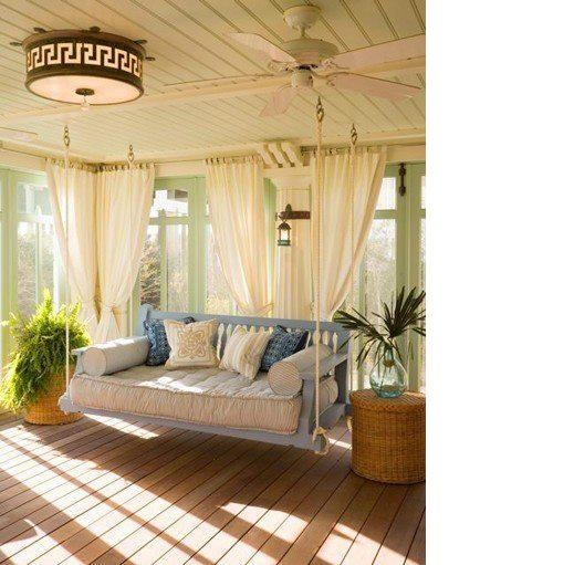 read a good bookEnclosed Porch, Swing Beds, Porch Swings, Sunrooms, Mosquitoes Nets, Back Porches, Sun Rooms, Front Porches, Porches Swings