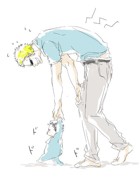 Doflamingo as a parent?! Lol ...It's cute though. >///< One Piece