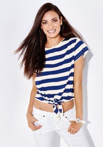 Pruhované tričko #ModinoCZ #stripes #navy #style