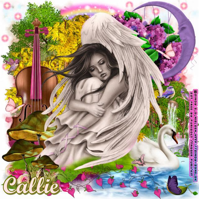 MI PASION, LOS COLLAGES: Homenaje a Callie Winters-Geschwind (Cherry Blossom Designs)