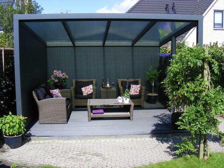 Modern garden gazebo aluminium gazebo double decker decks and patios pinterest gardens - Tent tuin pergola ...