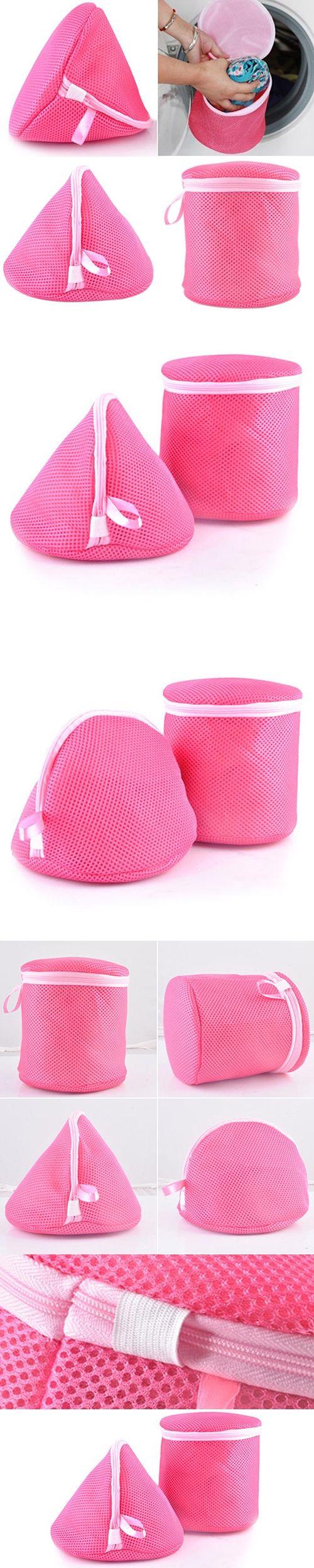 Underwear Aid Bra Laundry Mesh Wash Basket Net Washing Storage Zipper Bag 6QFI