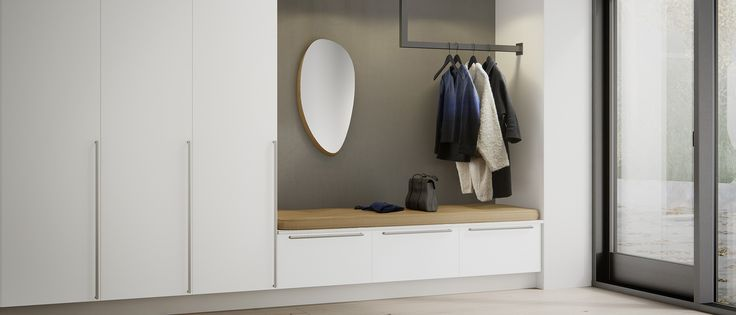 Med garderober i Veda-serien får du optimalt förvaringsutrymme i hallen. Hos Kvik är vi redo att hjälpa dig skapa ordning i vardagen.