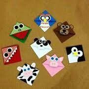 Corner bookmark animals