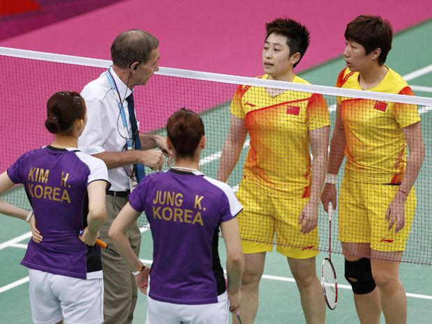South Korean badminton teams banned six months for Olympic dive