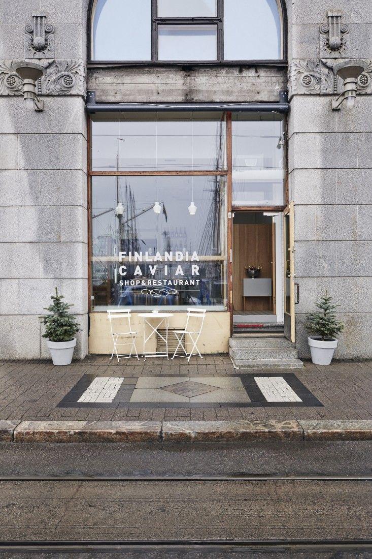 Finlandia Caviar House in Helsinki designed by Joanna Lajiisto