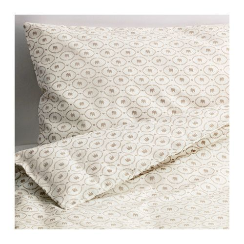 HJÄRTEVÄN Crib duvet cover/pillowcase IKEA Cotton is soft and feels nice against your child's skin.