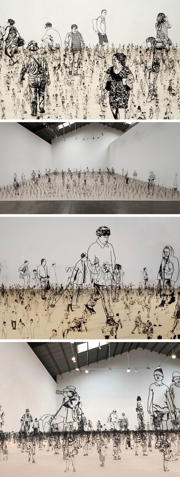 People I Saw But Never Met: Thousands of Miniature Metal Figurines by Zadok Ben-David