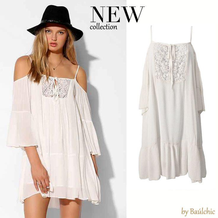 Nuestra propuesta de hoy, un #vestido blanco de nuestra sección #newcollection. Llévatelo y presume de bronceado ya que lo resaltará aún más.  http://www.baulchic.com/new-collection/444-vestido-blanco.html  #fashion #style #moda #estilo #nuevascolecciones