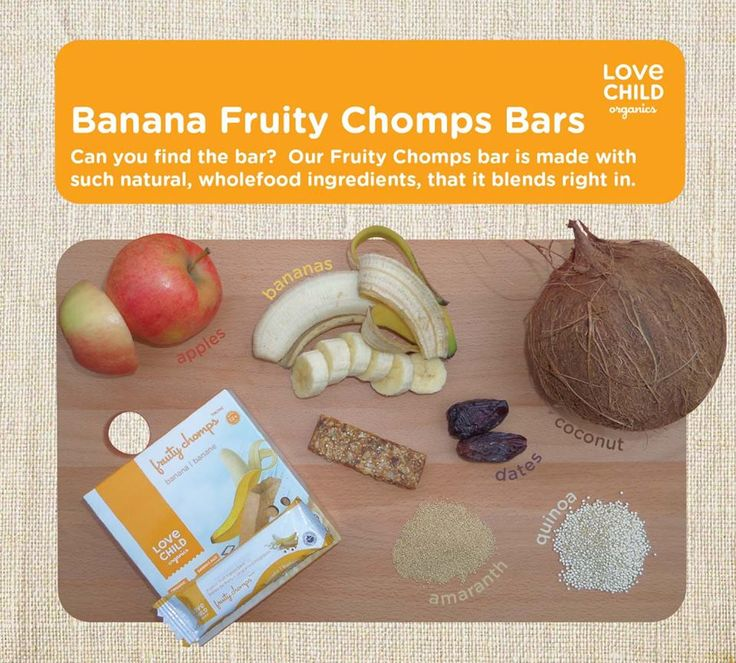 Looking for some new snack ideas? Our Banana Fruity Chomps, are always made with natural and organic ingredients, packed full of super foods and never contain sugar, syrups or fruit concentrate.