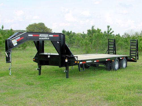 30 ft 10 ton ghoosneck deck-over equipment bobcat trailer workhorse series