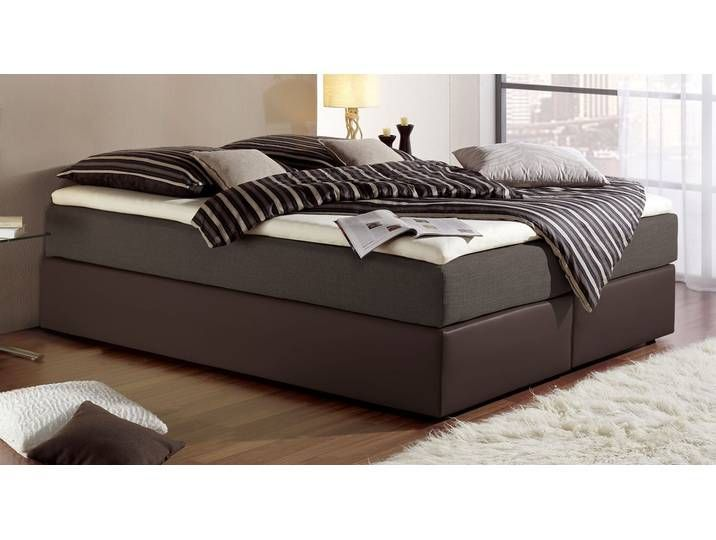 Boxspringbett Ohne Kopfteil Sydney 180 200 Cm Braun H2 Betten In 2020 Black Headboard Maintal Bed