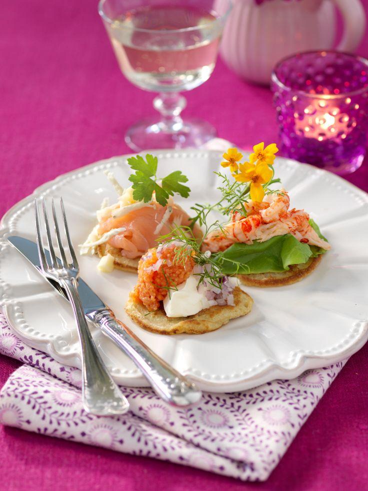 Recept blinier med fisk och skaldjurstopping