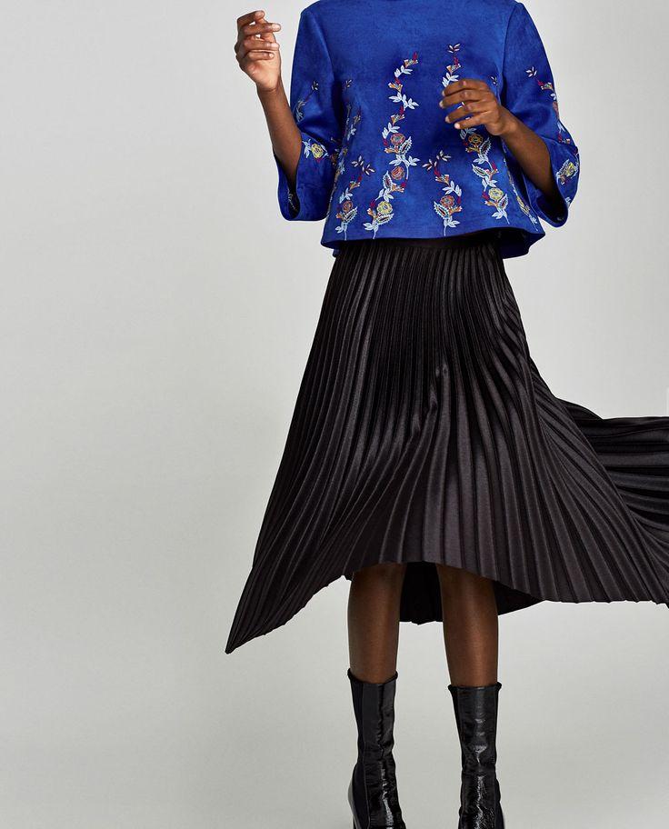 Faldas midi, lápiz, pareo y con volantes | Mujer | ZARA España