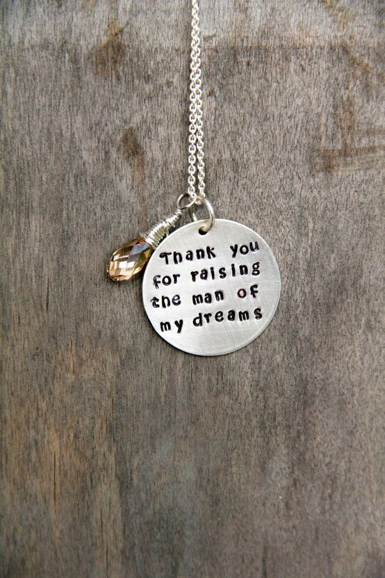 Gift For Mother In Law, New Mother in Law Christmas Gift  Mother in Law, Mother of the Groom Gift Necklace, Mother In Law, In Law Gift. $49.00, via Etsy. - Click image to find more Weddings Pinterest pins