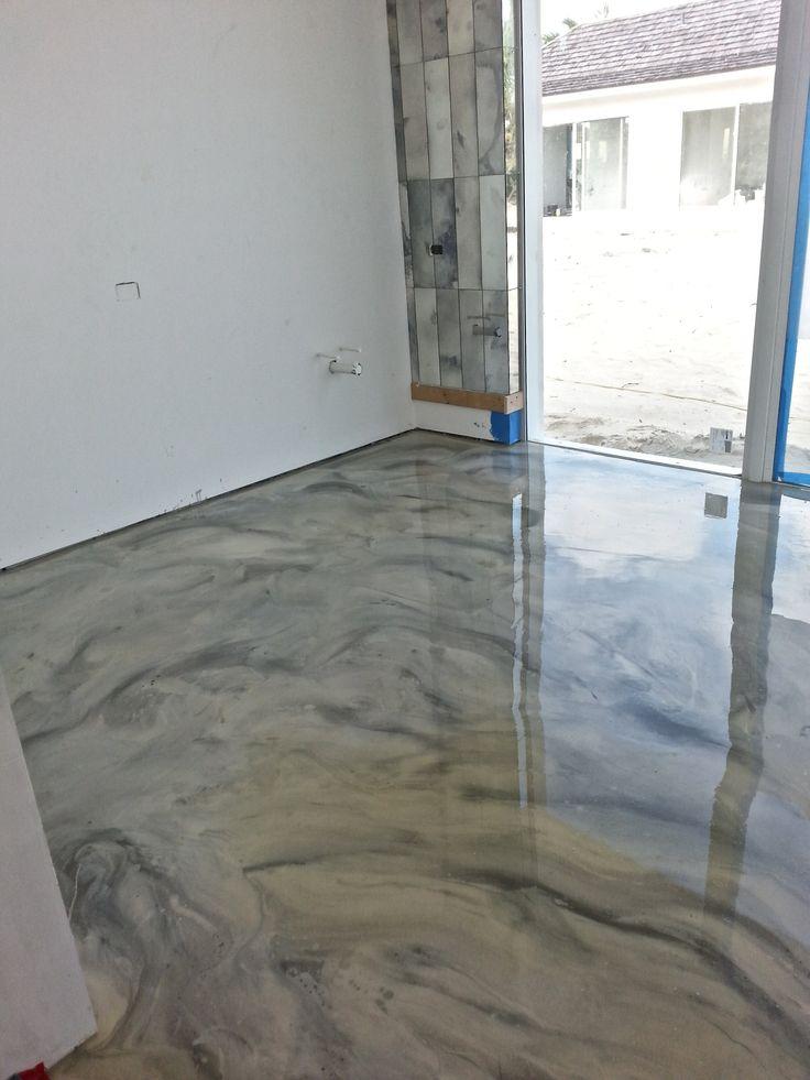 Custom design integral concrete floor decorative for Custom floor design