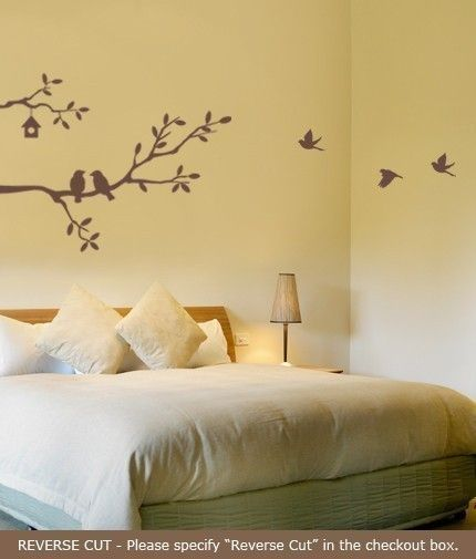 Cute Birds and Branches Decal - Vinyl Wall Decal. $37.00, via Etsy.