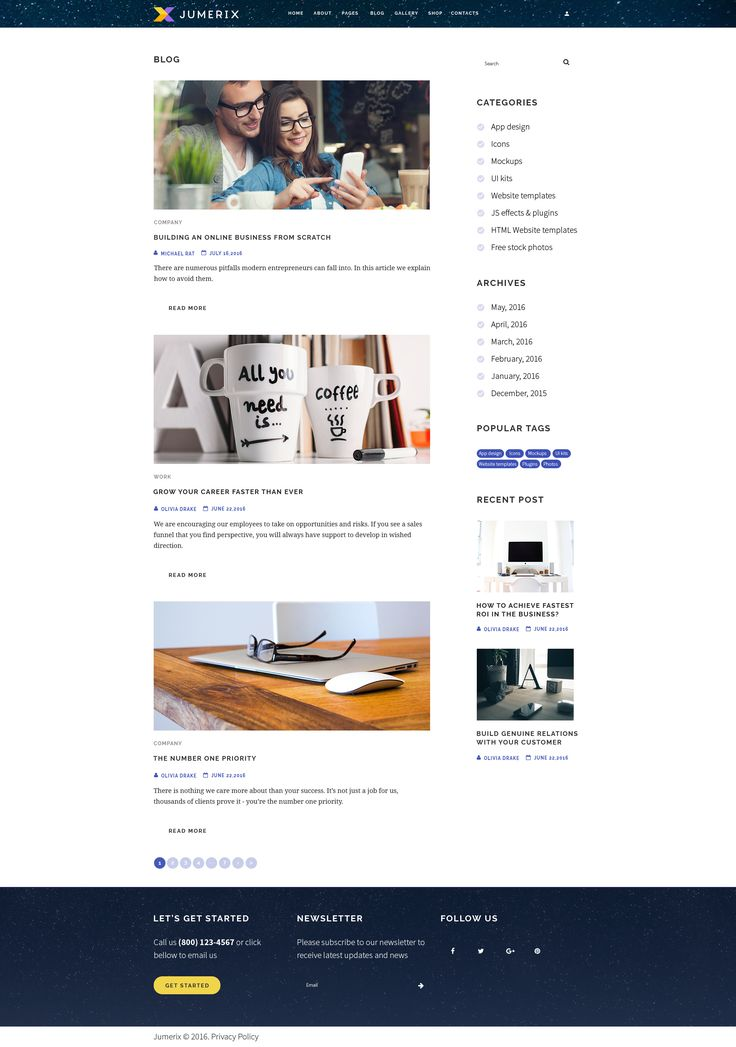 Blog Page with sidebar in Jumerix - New Joomla Template http://www.templatemonster.com/jumerix-multipurpose-joomla-template-60060.html