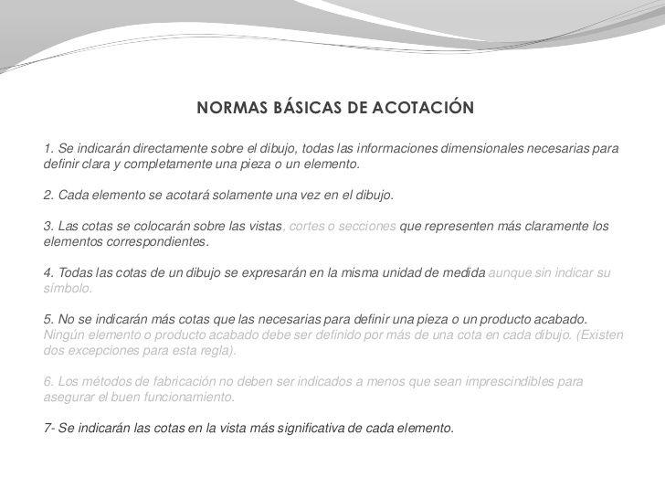 Normalizacion Acotacion Final 2º Repaso Gral Educacion Plastica Tecnicas De Dibujo
