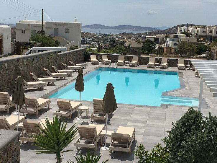 Anna-Maria Mykonos Hotel || Featuring an outdoor pool and a sun terrace with sun loungers, Anna-Maria Mykonos Hotel is located in Glastros area of Mykonos, within 1.5 km of the famous Psarrou Beach.
