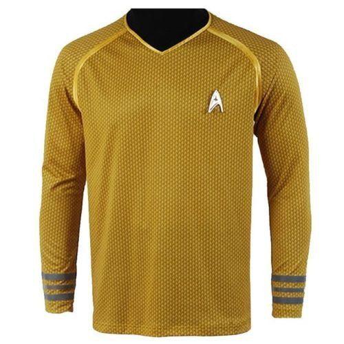 Camisa Star Trek Amarelo / Azul / Vermelho Tamanhos XS-XXXL