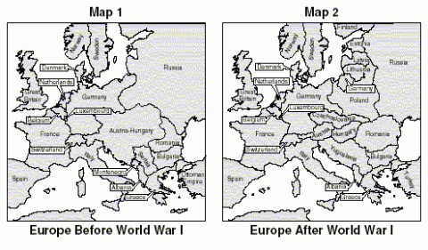 What the treaty of versailles did to europe