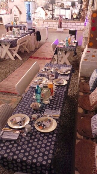 Picnic wedding tables at JanHarmsgat in Cullinan