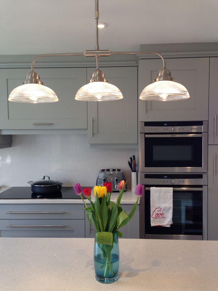 lamp room gray #gray #grey #kitchen #pendant light #farrowandball