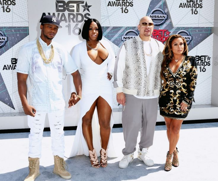 Rappers Papoose, Remy Ma and Fat Joe With Fat Joe's wife, Lorena Cartagena