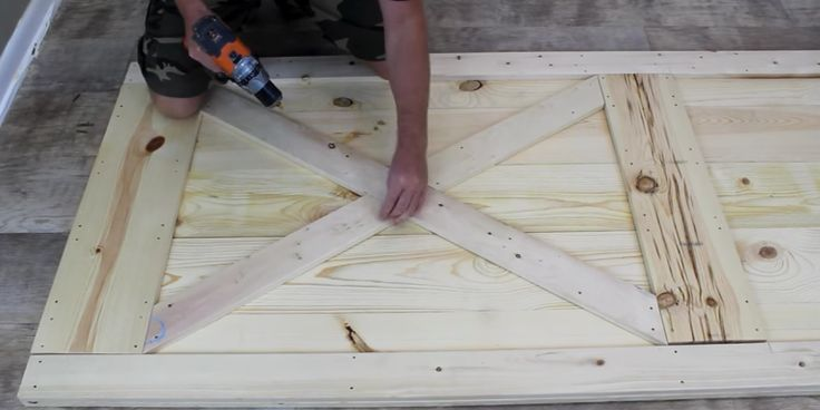 How to create a barn door under $40.00A little goes a long way when it comes to this rustic yet elegant project.