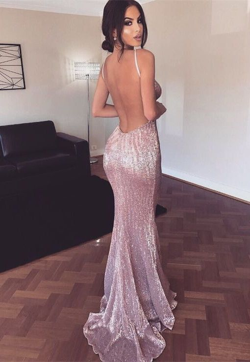 prom dresses, mermaid prom dresses, sparkling prom dresses 2017, backless mermaid evening dresses, sexy deep v-neck prom dresses.