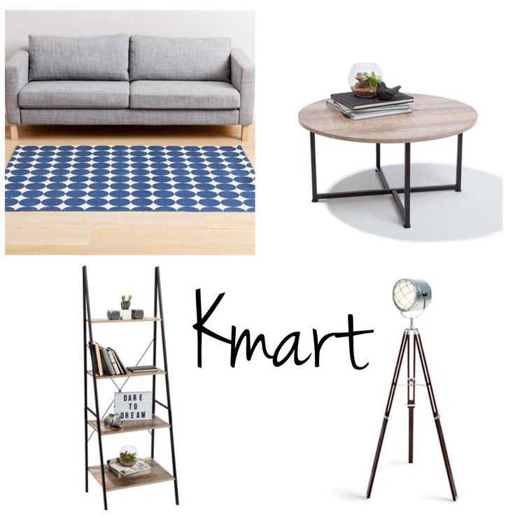 Serendipity Styling & Design's top 4 homeware picks from Kmart. #kmart #industrial #furniture #livingroom